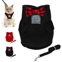 Katzengeschirr Ausbruchsicher Mit Leine Hundegeschirr für kleine Hunde Rot S M L