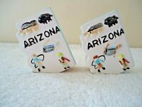 "Vintage Made In Japan Arizona Shaped & Themed Salt & Pepper Shaker Set "" RARE """