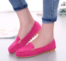 Ladies Suede Flat Soft Shoes Plus Size Women Spring Casual Slip On Single Shoes
