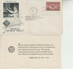 FDC #1002 AMERICAN CHEMICAL SOCIETY MERCK&CO.INC ENCLOSURE TO PLAINFIELD,NJ 1951
