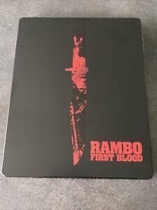 RAMBO FIRST BLOOD BLURAY STEELBOOK ZAVVI UK STALLONE VF