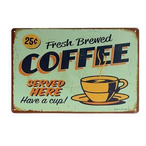 Retro Metal Tin Sign COFFEE Art Poster Cafe Pub Bar Home Wall Decor 02