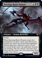 Burning-Rune Demon - Foil - Extended Art x1 Magic the Gathering 1x Kaldheim mtg