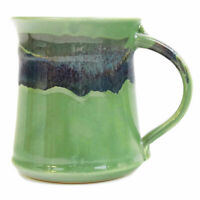Clay In Motion Handmade Ceramic Medium Mug Coffee Cup 16 oz - Misty Green