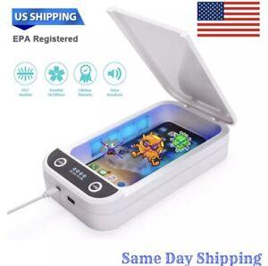 UV Cell Phone Sterilizer Sanitizer Box + Diffuser (Voice Feedback)