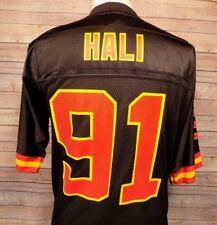 Kansas City Chiefs NFL Reebok Tamba Hali 91 Jersey Medium  Men's Black Nylon