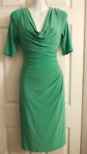 RALPH LAUREN GREEN COWL NECK RUCHED SIDE  DRESS 4
