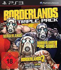 PS3 Spiel Borderlands Triple Pack mit Borderlands 1 + 2 + Pre-Sequel NEUWARE