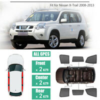 6Pcs Windows Sunshade UV Protection Mesh Block Visor Fit For Nissan X-Trail T31