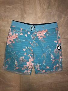 Hurley Men's Phantom Boardshorts Surf Shorts Swim Trunks Hawaiian Floral Size 32