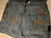 7 For All Mankind Bootcut Womens Jeans Denim Size 30 EUC