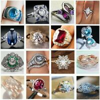 925 CZ Silver Anelli Lady Girl Brand Women Band Wedding Rings Engagement Jewelry
