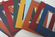 Picture Frame Mats set of 10 rich colors variety pak 4x6 for Aceo size
