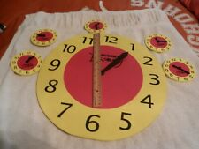 Lot of 6 Student Clocks Foam Learning Resources 1 Large and 5 mini clocks
