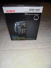AIWA HS-G15 HS G 15 SUPER BASS STEREO CASSETTE PLAYER BLACK