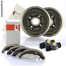 2 A.B.S. Bremstrommeln + Bremsbacken + 2 Zylinder + Montagesatz Set für Daihatsu
