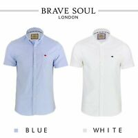 Brave Soul Mens Shirt Senate Short Sleeve Oxford Collared Casual Half Sleeve Top