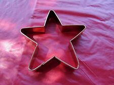 "STAR COPPER COOKIE CUTTER CLAY SOAP ETC. 5 3/4"" X 1 1/8"" THICK GOOD QUALITY"