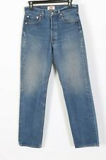Vintage Levis 501 Button Fly High Waisted Boyfriend Denim Jeans Womens 28x33