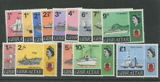 Gibraltar SG200-211 1967 Ship Definitives U/M (note looks like printer mark on 2
