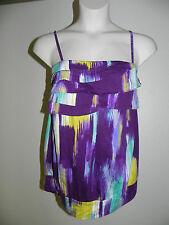 Lane Bryant Cami Blouse Plus Size 16 Fun & Flirty Purple Multi Color NWOT