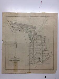 Antique Original 1915 Plan of Cedar Park Development, Stoneham, Mass.