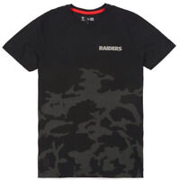 Small New Era Cap NFL Team Apparel Raiders Camouflage Tee Night Ops Camo T-Shirt