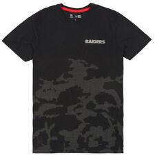 Small New Era Cap NFL Team Apparel Raiders Camouflage Tee Night Ops Camo T-Shirt