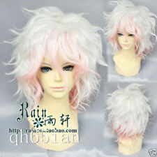 Danganronpa Dangan-Ronpa Nagito Komaeda Fashion Short Hair Cosplay Party Wig