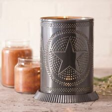 Country Tin new punched STAR electric candle warmer /light