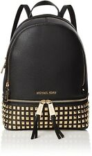 MICHAEL KORS WOMEN'S LEATHER  BACKPACK / with 18k plate Square Studs  MD