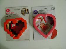 New listing Wilton 8-Bit Heart& Heart Metal Comfort Gripper Cookie Cutter /New / 2 Cutters