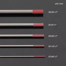 "10-pk TIG Welding Tungsten Electrode 2% Thoriated (Red, WT20) .040""-5/32""x7"""