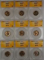 1938-D Buffalo Nickel 5c Coin ANACS MS-65 *PRICE FOR ONE COIN ONLY*