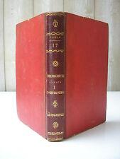 BUFFON : HISTOIRE NATURELLE Tome 17 hitoire des animaux 5 gravures 1799