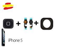 boton home central para iphone 5 completo flex goma negro repuesto