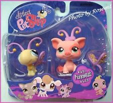 2007 Littlest Pet Shop 621 622 YELLOW BUTTERFLY PIG WINGS ANTENNA PLEASE READ