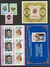 Turks and Caicos Islands 1981 Royal Wedding Set Sheet  and Panes UM