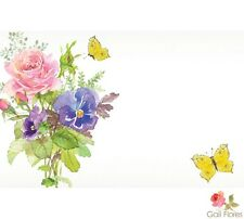 "50ct. Floral Butterflies ""Abundant"" Blank Florist Enclosure Cards Small Tags"