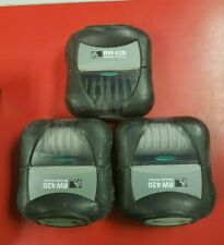 Lot of 3 Zebra RW-420 Label Printer