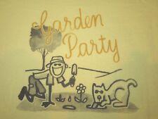 NWT Life is Good GARDEN PARTY Yellow JAKE & ROCKET DOG s/s T-SHIRT Women XS