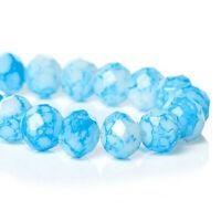 BD042 20 Teardrop Beads Shiny Glow Acrylic Assorted Colors 10mm x 6mm