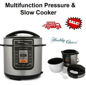 6L Electric Slow Pressure Cooker Multi function 1000W Rice Multifunction Cooking