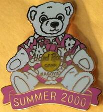 Hard Rock Cafe NAGOYA 2000 Summer Teddy Bear in Hawaiian Shirt w/ HRC Logo #6080