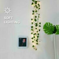 2M 20LED Leaves Ivy Leaf Garland Fairy String Lights Lamps Decor Party S S3T1