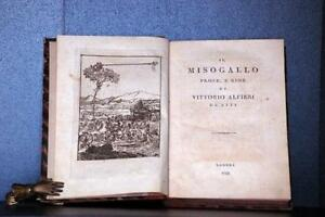 Il Misogallo prose, e Rime di Vittorio Alfieri da Asti, Alfieri Vittorio