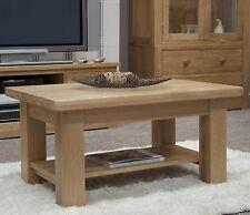 Vermont solid oak furniture living room coffee table