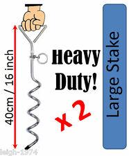 2 x heavy duty AUGER sol ancre 400mm idéal pour les cadres balançoires trampoline