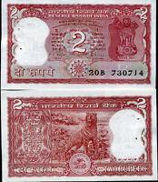 INDIA 2 RUPEES P 53 A/d UNC W/LITTLE TONE W/H