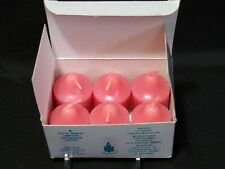 Partylite 6 Votive Candles Rose in Box New Vo624